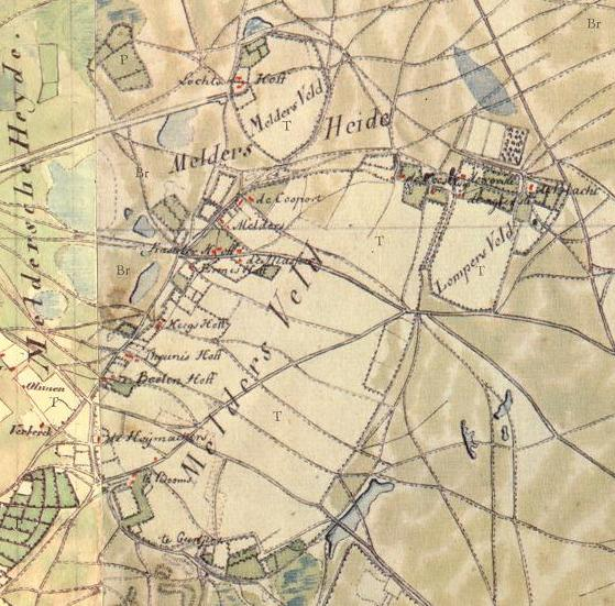 ca 1820 ontginningsvelden Melders en Locht