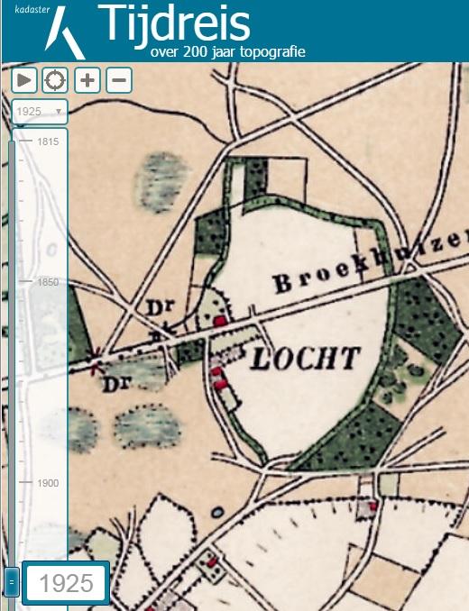 Kaart 1925 Locht